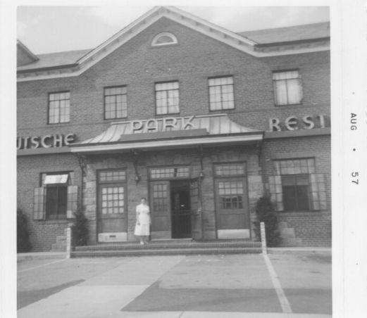plattduetsche park restaurant in 1957